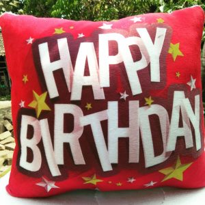 bantal ulang tahun custom