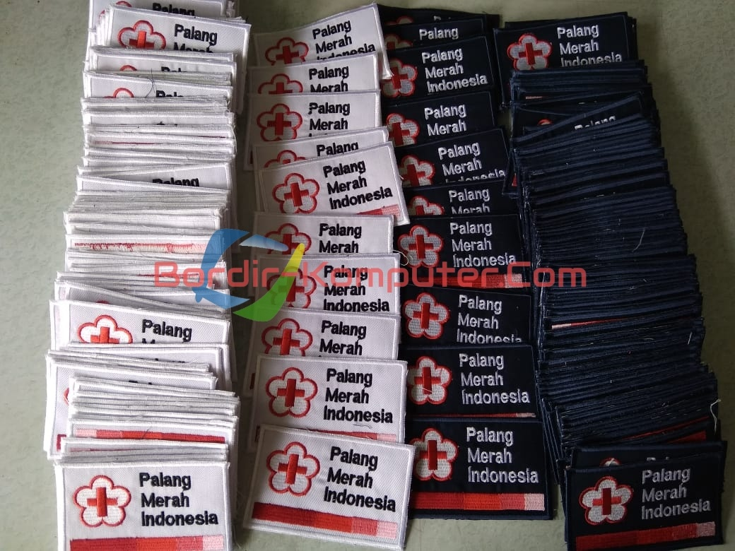 Bordir Komputer Logo PMI – PMR – Palang Merah Indonesia